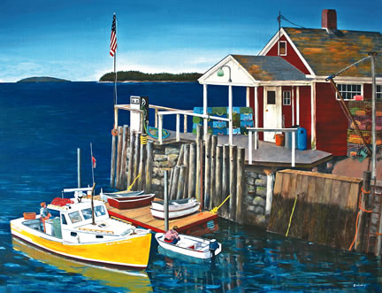 306 McLoon's Wharf – Matted Card