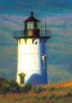 327 Lighthouse at the Point – Matted Card