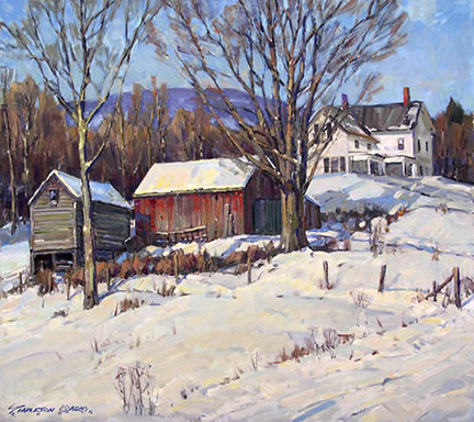 330 Snow Cover, Winter Afternnon – Matted Card