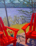 335 Red Chairs – Matted Card